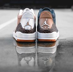 """c771492d02e ENGLISH SOLE - Rare Sneakers on Instagram  """"What model Jordan has the  craziest colorways⁉ AJ3 and AJ4 in my opinion."""