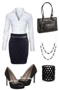 White & Black outfit
