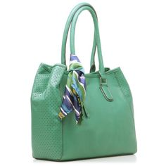 Jade tote with scarf