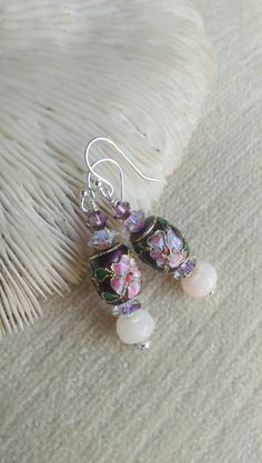 Check out this item in my Etsy shop https://www.etsy.com/listing/254359378/purple-pink-passion-drop-earrings-of