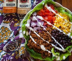 Taco Salad - FLAVORGOD.COM - This taco salad looks fresh and delicious with @5280meat and my Chipotle and Taco Tuesday seasonings. Easy to assemble and ready to enjoy anytime of the day😎👍‼️ - @5280meat: - Ingredients: @5280meat chorizo sausage @flavorgod Chipotle & Taco Tuesday Romaine lettuce Tomato Onion Grilled sweet corn Black Beans Ranch (or dressing of your choice) - Directions: In a pan, cook one pound of 5280 Meat Chorizo Sausage and season with Flavor God seasonings. Layer bowl…