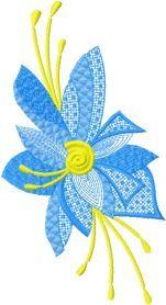 Fantastic Flower machine embroidery design. Machine embroidery design. www.embroideres.com