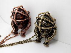 We love this BioShock Big Daddy Necklace