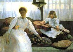 Julian Alden Weir (Amerian artist, 1852–1919) Idle Hours