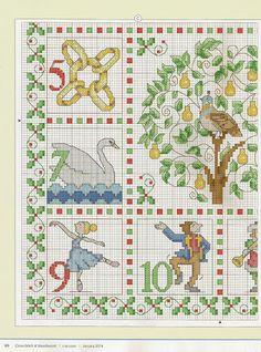 12 Days Of Christmas Cross Stitch.104 Best Cross Stitch 12 Days Of Christmas Images Cross
