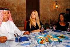 Time and Treats with our Host  Mr. Saeed of the Bastakiah Nights Restaurant.    Photo Shoot, Bur Dubai    www.XelaFashion.com  www.Facebook.com/XelaFashions