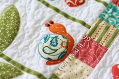 Applique | Ladybug Butterfly Snail Pattern | Free Pattern & Tutorial at CraftPassion.com