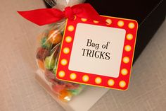 call your favor bags a 'bag of tricks' at a magic party