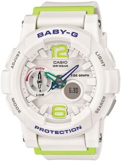 Casio Baby-G G-lide Tide Graph Surfer White Watch Casio Baby-G G-LIDE  Series. 9fa1416c7c