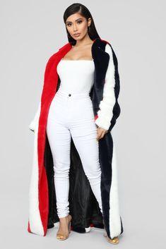 400470844c Hot Tamale Faux Fur Jacket - Multi