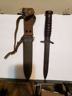 Brown Leather Custom Shanghai Police Sheath for Fairbairn Sykes Knives HANDMADE!