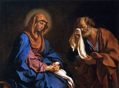 The Athenaeum - Saint Peter Weeping before the Virgin (Giovanni Francesco Barbieri - )