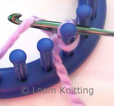Loom Knitting: Crochet Cast On