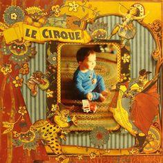 graphic 45 le cirque images | Graphic 45 - Le Cirque Collection - 12 x 12 Double Sided Paper - Le ...