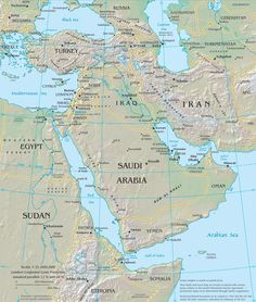 Current Middle East Map | current middle east map