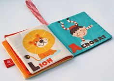 Fabric for baby books - Linda, you might want to check this out.