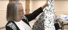 Nebraskan volunteers weave thousands of plastic bags into mats for the homeless
