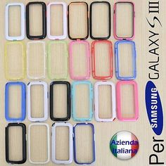 Bumper Per SAMSUNG Galaxy S3 i9300 Cover Custodia + Pellicola Salva Schermo LCD