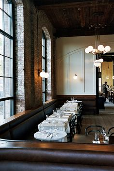 Reynard's restaurant inside Wythe Hotel by Brian Ferry. Williamsburg, Brooklyn. USA.