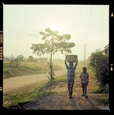 Two kenyan children near sunset in Khwisero, Kenya. Submitted by JustinLStewart on Tue, 2011-11-29 02:47 Shot with Yashica 124-G and kodak 160NC