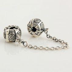 Thread Safety Chain Charm 925 Silver Pandora Compatible