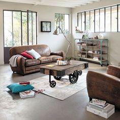El estilo industrial en la decoración de salones modernos - http://decoracion2.com/el-estilo-industrial-en-la-decoracion-de-salones-modernos/ #Estilo_Industrial, #Muebles_De_Oficio, #Salones_Modernos