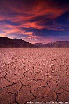 Dry lake bed at sunset in Anza-Borrego Desert State Park, California