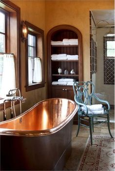 Copper soaking tub