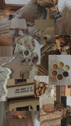 Look Wallpaper, Beige Wallpaper, Iphone Wallpaper Tumblr Aesthetic, Cute Patterns Wallpaper, Iphone Background Wallpaper, Retro Wallpaper, Aesthetic Pastel Wallpaper, Aesthetic Wallpapers, Collage Background