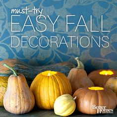 Fall Harvest Decorating Ideas~~Let nature's bounty—fruits, nuts, squash, leaves, branches of berries, and more—bring harvest cheer to your home.