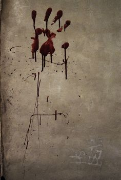 Zombie Attack Bloodprint - Halloween Stretched Canvas