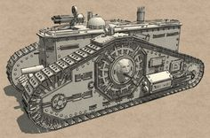 Steampunk Tank | steampunk tank 3d c4d - Steampunk Tank... by JIHS
