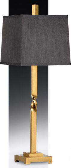 hand cast brass lamp with twist design; home lighting ideas