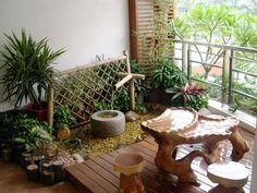 cool balcony garden decor