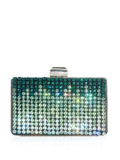 Lanvin crystal embellished box clutch