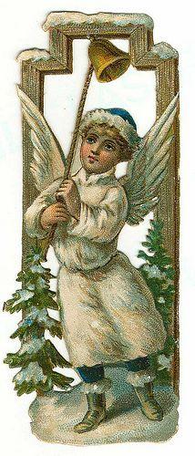 Glanzbilder - Victorian Die Cut - Victorian Scrap - Tube Victorienne - Glansbilleder - Plaatjes : Winterengel - Angel - Ange