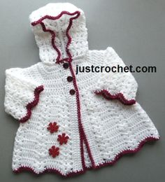 Free baby crochet pattern hooded coat uk