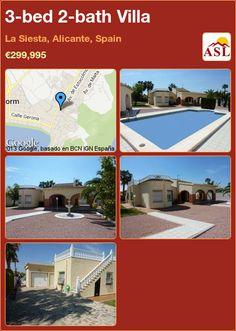 3-bed 2-bath Villa in La Siesta, Alicante, Spain ►€299,995 #PropertyForSaleInSpain