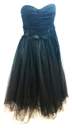 Robert Rodriguez Black Strapless Party Prom Short Cocktail Dress Size 6 (S) Prom Dresses Jovani, Strapless Dress, Short Cocktail Dress, Black Party, Sweet Sixteen, Babydoll Dress, Special Occasion, Party Dress, Layers