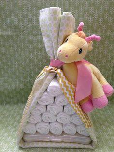 PINK Stork Bundle Baby Blanket and by MrsHeckelDiaperCakes on Etsy, $28.00