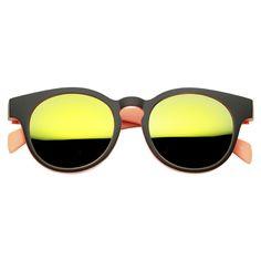 Summer Fun Pool Party Round Key Hole Sunglasses - zeroUV