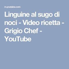 Linguine al sugo di noci - Video ricetta - Grigio Chef - YouTube