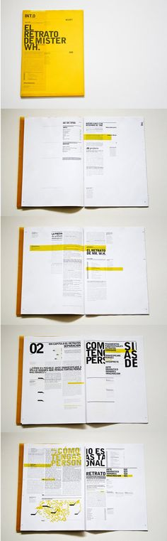 This brochure really caught my eye and I think it mixes bold and legibility well. The yellow is quite striking and the pages feel very well organized throughout.