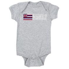 Hawaii: Hawaiin Flag & Hawaii Baby Bodysuit on CafePress.com
