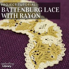 Freestanding Battenburg Lace with Rayon  (PR2060) from www.Emblibrary.com