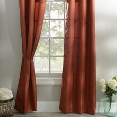 "With Pumpkin Spice Latte's abounding this season, why not get in the spirit with your decor and our ""Spice Orange Curtain Panel Set?"" This color is perfect for all and would warm up any room in your home with a pop of color and rich, spice fabric."