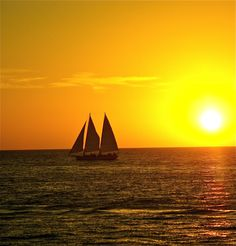 Sailboat in the Caribbean Sunset