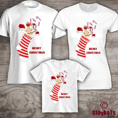 Personalized Christmas family t-shirts Mom Dad little by StoykoTs