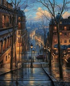 Montmartre, Paris Artwork by Evgeny Lushpin Nature Pictures, Cool Pictures, Cool Photos, Amazing Photos, Best Places To Travel, Cool Places To Visit, Wonderful Places, Beautiful Places, Wonderful Picture