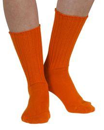 Fremont women's elastic free (soft topped) cotton crew socks in tango